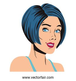 Pop art woman cartoon