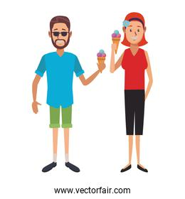 People with ice cream