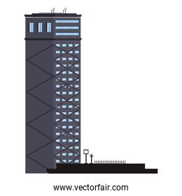 City building isolated