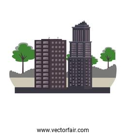 City buildings isolated