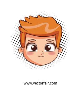 Boy face cartoon