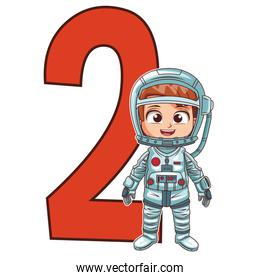 astronaut girl number two