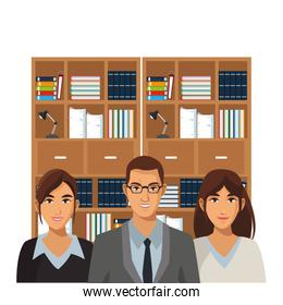 coworkers executives group