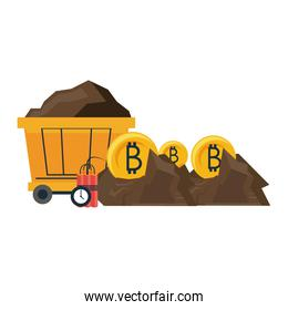 Bitcoin mining with wagon and tnt