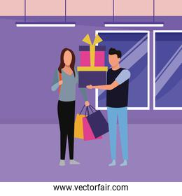 People and shopping