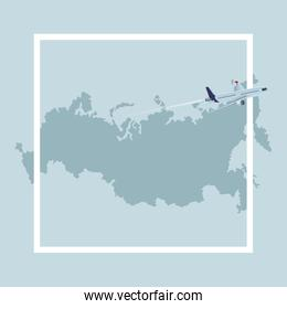 russian map icon