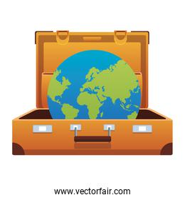 travel suitcase icon with