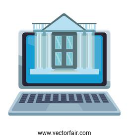 Online bank from laptop