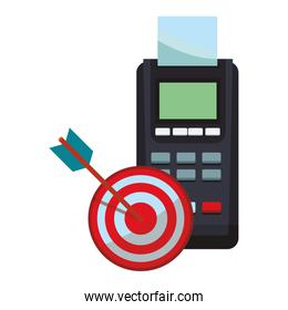 Credit card reader and target dartboard
