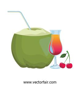 coconut and cocktail
