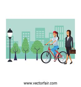 sport woman and businesswoman