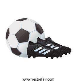 soccer boots with ball