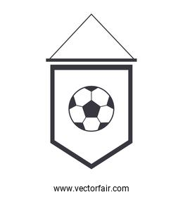 soccer pennant with ball