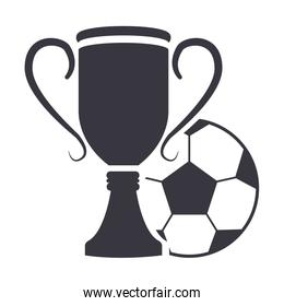 trophy with ball