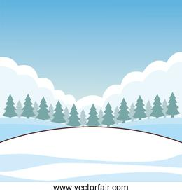 snow field cartoon