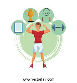 fit man doing exercise