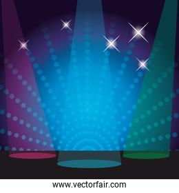 disco stage scenery