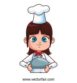Chef girl cartoon