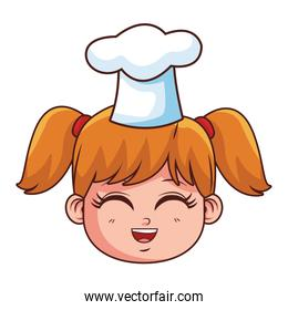 Chef kid smiling face