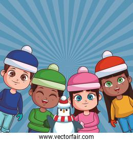 Winter and kids