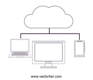 computer and cloud