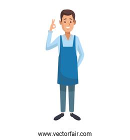 coffee shop waiter cartoon