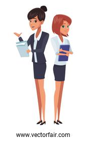 executive businesswomen cartoon
