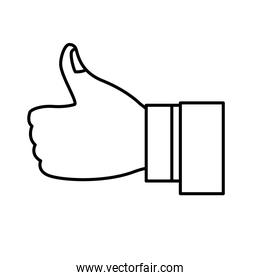 thumps up approval business