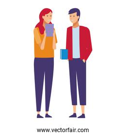 casual outfit couple talk
