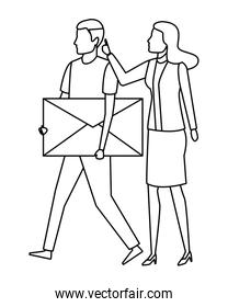 couple with envelope