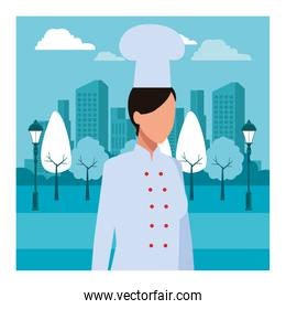 chef woman worker avatar