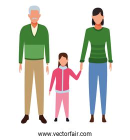 old man woman and child avatar