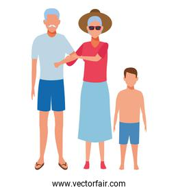 old couple and child avatar