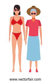 old woman and young woman avatar