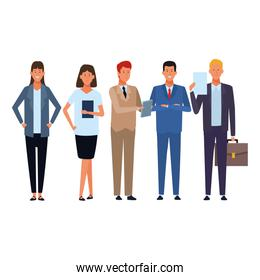 business people avatar cartoon characters
