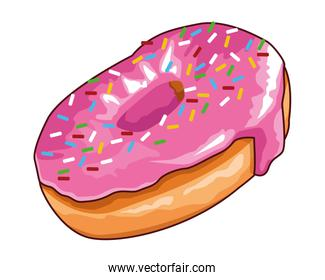 donut icon isolated
