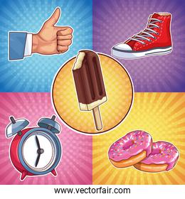 ice lolly sneaker donut pop art