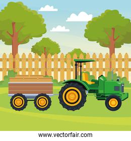 farm truck tractor and trailer