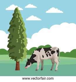 cow with tree