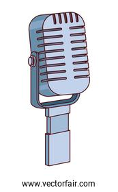microphone icon cartoon vector illustration