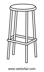 high chair icon black and white