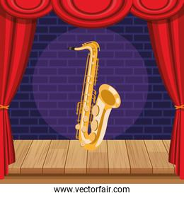 saxophone icon cartoon