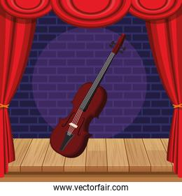violin icon cartoon