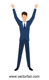 businessman avatar cartoon character