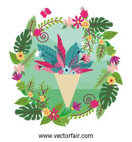 flower arrangement icon round icon