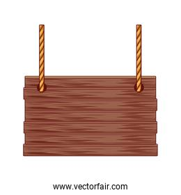 Wicker basket squared with rope handles isolated