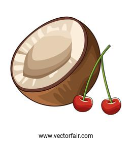 coconut and cherries