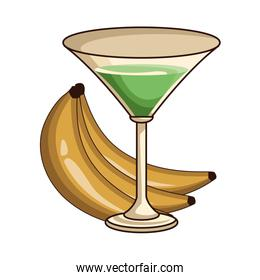 cocktail with bananas