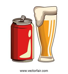 soda can and beer