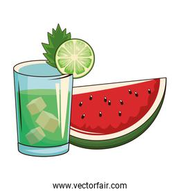 cocktail with watermelon
